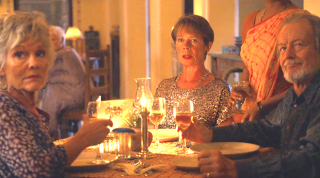 The Second Best Exotic Marigold Hotel (2015), Diana Hardcastle, Celia Imrie, Ronald Pickup