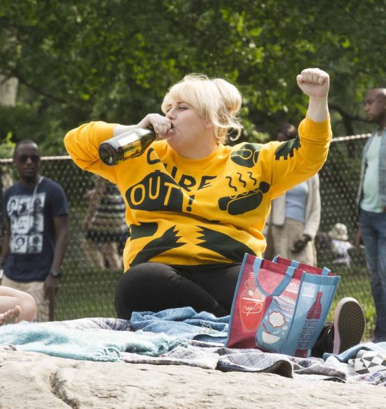 On Location with How to be Single Featuring: Rebel Wilson Where: New York, New York, United States When: 29 May 2015 Credit: WENN.com